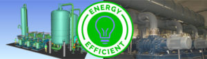 vapour recovery with high energy efficiency